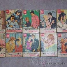 Libros de segunda mano: 10 MINI LIBROS BRUGUERA SERIE ROSA. Lote 19777097