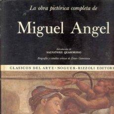 Libros de segunda mano: LA OBRA PICTORICA COMPLETA DE MIGUEL ANGEL. Lote 21468878