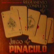 Libros de segunda mano: JUEGO DEL PINACULO. 1946, AFRODISIO AGUADO, MADRID. Lote 1477255