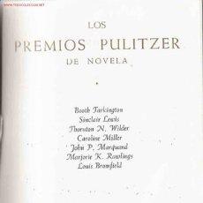 Libros de segunda mano: LOS PREMIOS PULITZER DE NOVELA. Lote 21684336