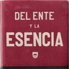 Libros de segunda mano: DEL ENTE Y LA ESENCIA. Lote 21581773