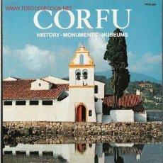 Libros de segunda mano: CORFÚ- HISTORY- MONUMENTS- MUSEUMS. Lote 24034211