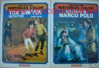 COLECCION HISTORIAS A COLOR.TOM SAWYER, MARCO POLO.1983 (Libros de Segunda Mano (posteriores a 1936) - Literatura - Otros)
