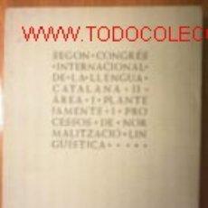 Libros de segunda mano: 2º CONGRES LLENGUA CATALANA.LLEIDA 1992.ILUSTRADO. Lote 43984693