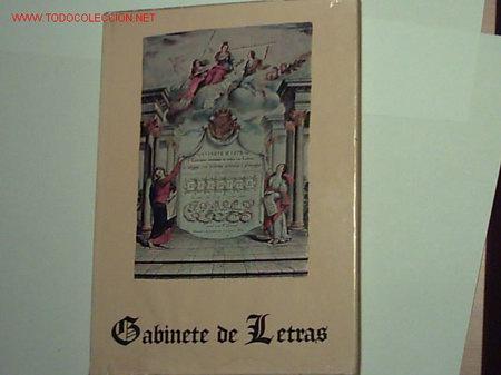 GABINETE DE LETRAS POR BRUNO GÓMEZ. (Libros de Segunda Mano - Bellas artes, ocio y coleccionismo - Otros)