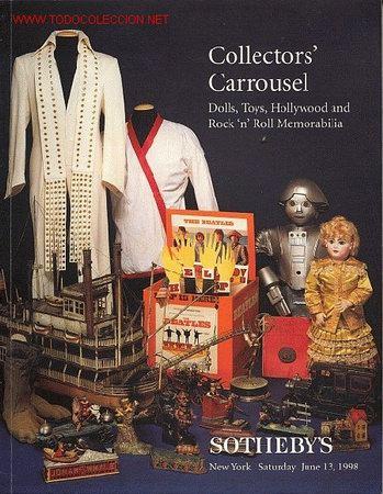 CATÁLOGO DE SOTHEBYS 1998 COLLECTORS CARROUSELL DOLLS TOYS ELVIS PRESLEY (Libros de Segunda Mano - Bellas artes, ocio y coleccionismo - Otros)