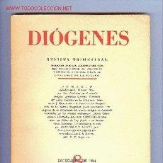 Libros de segunda mano: DIÓGENES, REVISTA TRIMESTRAL, Nº 8. AÑO 1954. ED. SUDAMERICANA. Lote 11877952