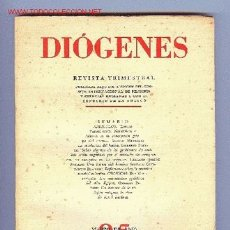 Libros de segunda mano: DIÓGENES, REVISTA TRIMESTRAL, Nº 25. AÑO 1959. ED. SUDAMERICANA. Lote 11877953