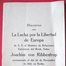 Libros de segunda mano: LA LUCHA POR LA LIBERTAD DE EUROPA..1941 BERLIN . PACTO ANTICOMINTERN.. ENVIO GRATIS¡¡¡. Lote 26163836