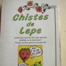 Libros de segunda mano: CHISTES DE LEPE. EDICOMUNICACIÓN, S.A. SELECCIÓN Y PRESENTACIÓN JAVIER TAPIA RODRÍGUEZ.158 PAGINAS. Lote 25867851