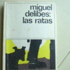 Libros de segunda mano: LAS RATAS DE MIGUEL DELIBES .EDICIONES DESTINO, COLECCIÓN DESTINOLIBRO VOLUMEN 8, AÑO 1979. 174 PAG. Lote 25867856