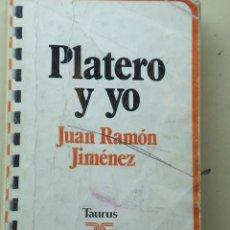 Libros de segunda mano: PLATERO Y YO DE JUAN RAMÓN JIMENEZ. INTRODUCCIÓN DE RICARDO GULLÓN E ILUSTRACIONES DE ZAMORANO.. Lote 27059578