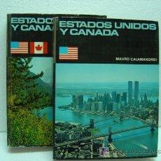 Libros de segunda mano: ESTADOS UNIDOS Y CANADA POR MAURO CALAMANDREI.EDICIONES DANAE 1975.TOMO 1 Y 2.MAS FOTOS.. Lote 20393895