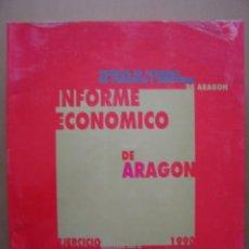 Libros de segunda mano: INFORME ECONÓMICO DE ARAGÓN, EJERCICIO 1990, 22 X 27 CM. 790 PÁGINAS. Lote 10137330