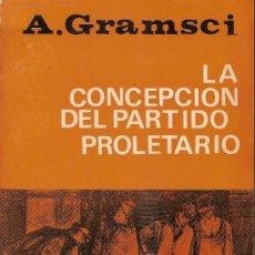 Libros de segunda mano: LA CONCEPCION DEL PARTIDO PROLETARIO / A. GRAMSCI. BS AS : LATINA, 1973. 20X14CM. 227 P.. Lote 25780935