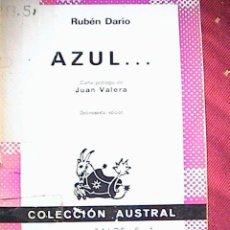 Libros de segunda mano: AZUL. RUBEN DARIO. Lote 10327482