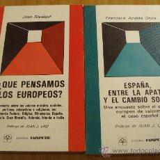 Libros de segunda mano: DOS VOLUMENES DE LA COLECCION SOCIEDAD RESPONSABLE DE LA EDITORIAL MAPFRE 1983-1984. Lote 26604237