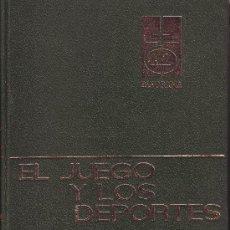 Libros de segunda mano: EL JUEGO Y LOS DEPORTES. MONTANER Y SIMÓN 1967.. Lote 15094967