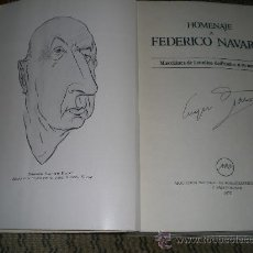 Libros de segunda mano: HOMENAJE A FEDERICO NAVARRO. MISCELÁNEA DE ESTUDIOS DEDICADOS A SU MEMORIA.. Lote 27365914