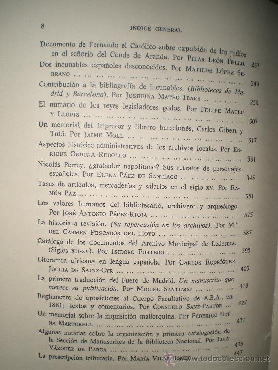 Libros de segunda mano: HOMENAJE A FEDERICO NAVARRO. MISCELÁNEA DE ESTUDIOS DEDICADOS A SU MEMORIA. - Foto 3 - 27365914