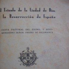 Libros de segunda mano: SALAMANCA.PASTORAL DEL OBISPO ENRIQUE.1939.144 PG.8ª.. Lote 20173543