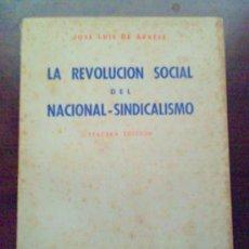 Libros de segunda mano: LA REVOLUCION DEL NACIONAL SINDICALISMO.JOSE LUIS DE ARRESE. Lote 26118974