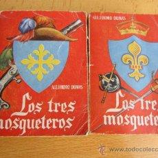 Libros de segunda mano: LOS TRES MOSQUETEROS - ALEJANDRO DUMAS - DOS TOMOS DE EDI PULGA - APROX 1955/60 - Nº 8 DE LA COLEC. Lote 11060199
