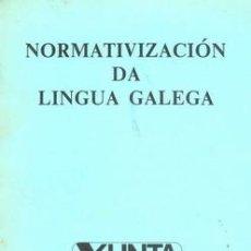 Libros de segunda mano: NORMATIVIZACION DA LINGUA GALEGA. Lote 21553587
