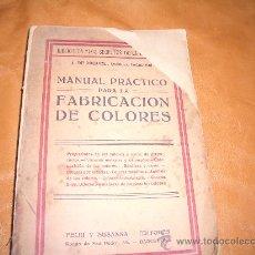 Libros de segunda mano: MANUAL PRACTICO PARA LA FABRICACION DE COLORES. Lote 11306657