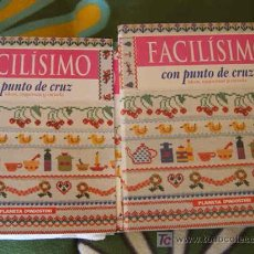 Libros de segunda mano: FACILISIMO CON PUNTO DE CRUZ . IDEAS ESQUEMA Y ESCUELA ( PLANETA DEAGOSTINI ) COMPLETA.. Lote 26687333