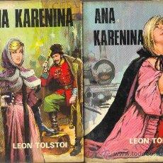 Libros de segunda mano: UXL ANA KARENINA POR LEON TOSTOI NOVELA LITERATURA RUSA 2 TOMOS. Lote 24251209
