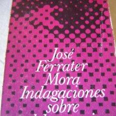 Libros de segunda mano: INDAGACIONES SOBRE EL LENGUAJE. J. FERRATER MORA. ED. ALIANZA. 1970.. Lote 24188011