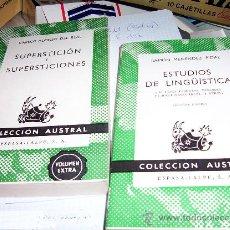 Libros de segunda mano: COLECCION AUSTRAL - ESPASA CALPE - JUEGO VARIADO DE 57 TOMOS. Lote 26698438