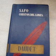 Libros de segunda mano: SAFO, CUENTOS DEL LUNES-ALPHONSE DAUDET-BIBLIOTECA EDAF, 41-MADRID 1964. Lote 21178163