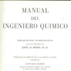 Libros de segunda mano: MANUAL DEL INGENIERO QUÍMICO. JOHN H. PERRÝ. 2 VOLS. MÉXICO, 1958-1959. Lote 17805105