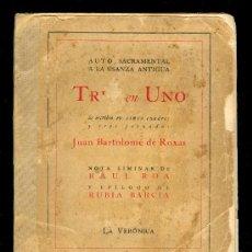 Libros de segunda mano: TRES EN UNO POR JUAN BARTOLOME DE ROXAS. EDITORIAL LA VERONICA, PRINTED IN CUBA 1940. Lote 24723416