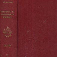 Libros de segunda mano: DICCIONARIO DE JURISPRUDENCIA PENAL. 4 TOMOS A-DE-036. Lote 3368364