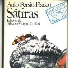 Libros de segunda mano: AULO PERSIO FLACCO: SÁTIRAS. Lote 27602290