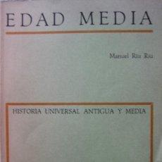 Libros de segunda mano: MANUEL RIU RIU. EDAD MEDIA. ED. TEIDE. Lote 26922406