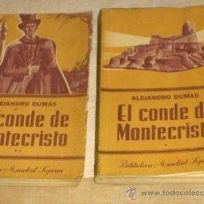Libros de segunda mano: EL CONDE DE MONTECRISTO (2 TOMOS). ALEJANDRO DUMAS. EDITORIAL SOPENA. 4ª EDICIÓN 1949. PORTES GRATIS. Lote 15292816