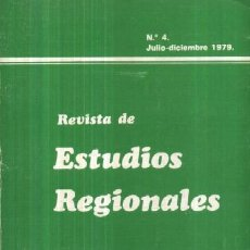 Libros de segunda mano: REVISTA DE ESTUDIOS REGIONALES. VOLUMEN IV (A/ AN- 152). Lote 3382271