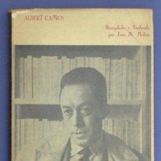 Libros de segunda mano: ESPAÑA LIBRE. ALBERT CAMUS. EDITORES MEXICANOS UNIDOS. MÉXICO, 1966.. Lote 12966837