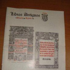 Libros de segunda mano: LIBROS ANTIGUOS GRANATA. IMPRENTA GRANADA, ALMERÍA. CIRCA 1960. BOLETÍN Nº 8.. Lote 18425335