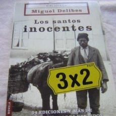 Libros de segunda mano: LOS SANTOS INOCENTES. MIGUEL DELIBES. ED. BOOKET. 2004.. Lote 12123389