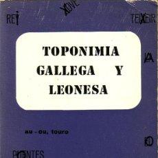 Libros de segunda mano: TOPONIMIA GALLEGA Y LEONESA, A. MORALEJO LASSO. EDITORIAL PICO SACRO, 1977. Lote 25651354