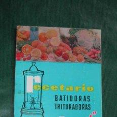 Libros de segunda mano: RECETARIO BATIDORAS TRITURADORAS - BERRENS. Lote 12232002