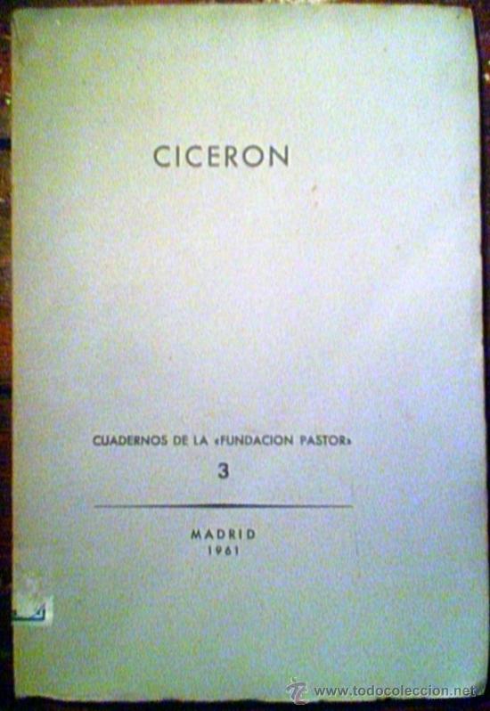 CICERON ENSAYOS DE D'ORS,PASTOR Y MAGARIÑOS (Libros de Segunda Mano - Pensamiento - Otros)
