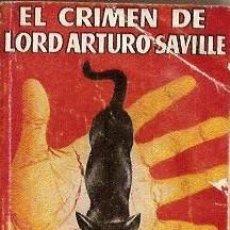 Libros de segunda mano: PULGA ESPECIAL Nº 185 EL CRIMEN DE LORD ARTURO SAVILLE OSCAR WILDE. Lote 12497706