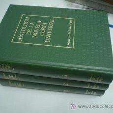 Libros de segunda mano: ANTOLOGÍA DE LA NOVELA CORTA UNIVERSAL. 3 TOMOS (OBRA COMPLETA). Lote 22602192