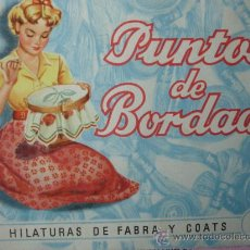 Libros de segunda mano: PUNTOS DE BORDADO.COATS.14 PG.20.5X15. Lote 17690737